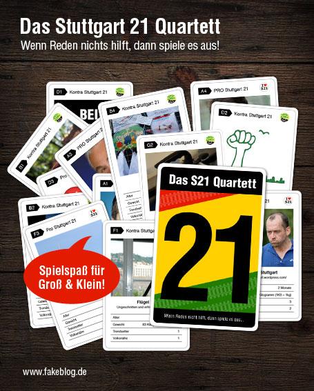 Stuttgart 21 Quartett Spiel S21
