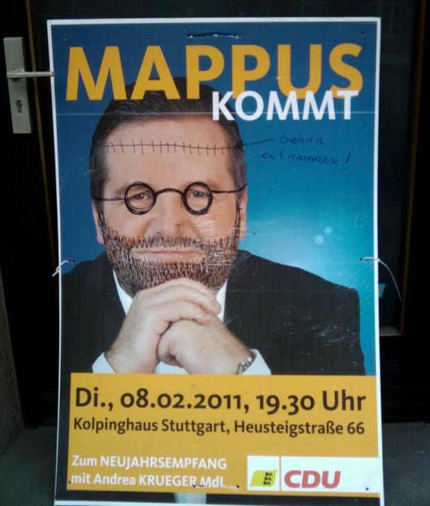 Mappus Wahlplakat CDU Landtagswahlen 2011 Baden-Württemberg