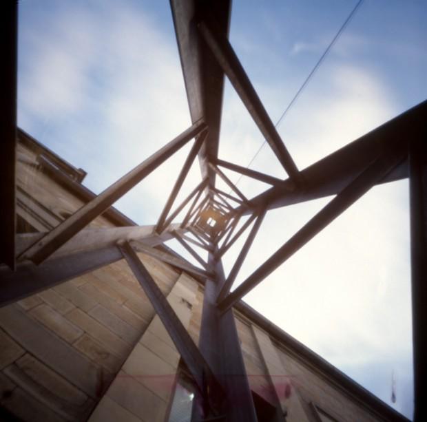 Bahnhof - Foto mit einer Camera obscura erstellt