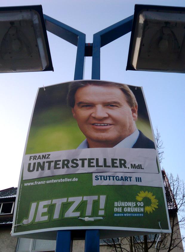 Franz Untersteller Bündnis90/Die Grünen Wahlplakat