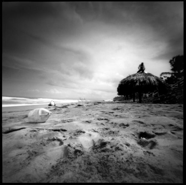 Lochkamera Foto Strand Dominikanische Republik