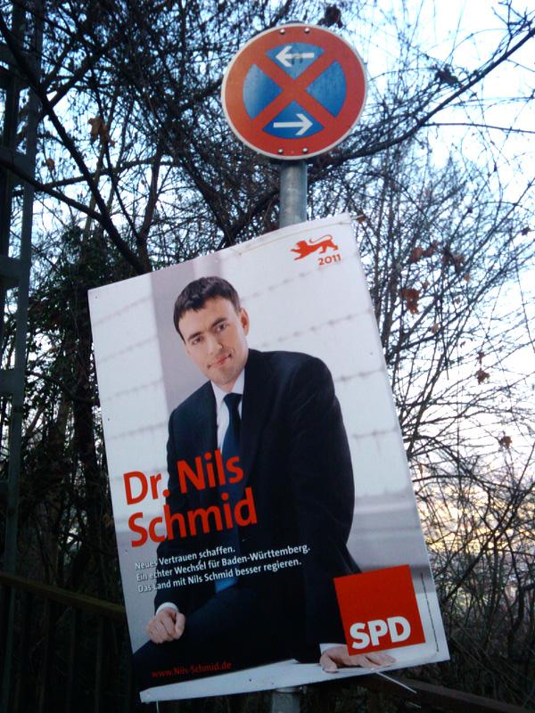 Nils Schmid Absolutes Halteverbot Landtagswahl 2011 Stuttgart