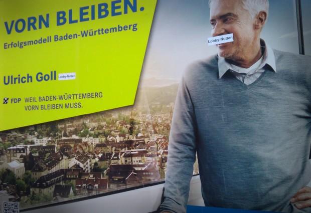 Ulrich Goll Wahlplakat Lobby-Nutten