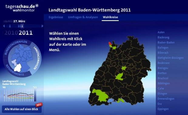 Auswertung Wahlbezirke Landtagswahl 2011 Baden-Württemberg