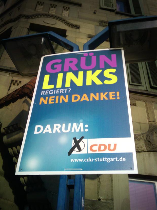 cdu plakat bashing bündnis90 grüne links