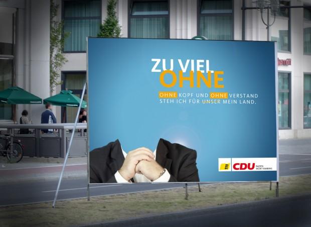 CDU Wahlplakat 2011 - Ohne Sinn und ohne Verstand - Mappus auf der Suche