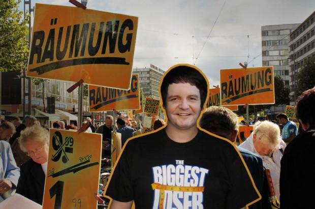 Mappus The Biggest Loser Räumungsverkauf am 27.03.2011 Landtagswahlen Baden-Württemberg