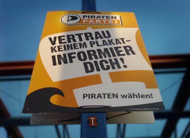 Wahlplakat der Piratenpartei Baden-Württemberg 2011