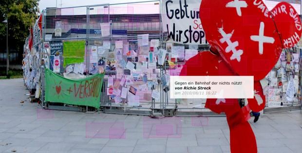 Bauzaun21 - langfristiges Stimmungsprojekt zu Stuttgart21