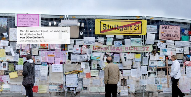 Stuttgart21 Projekt Bauzaun21 Stimmungsanalyse