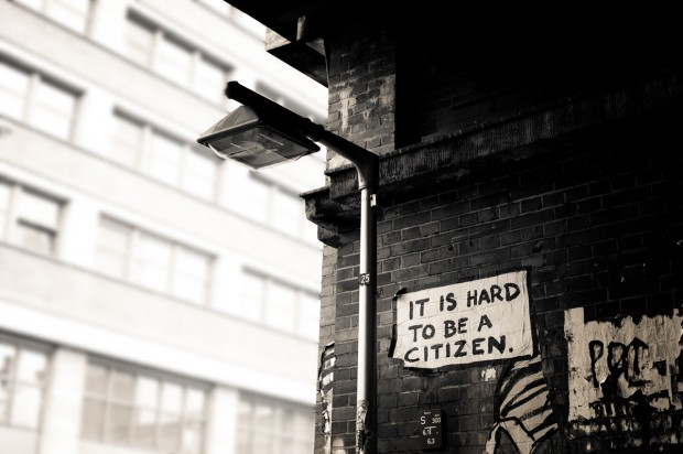 Bürger sein ist schwer - it is hard to be a citizen