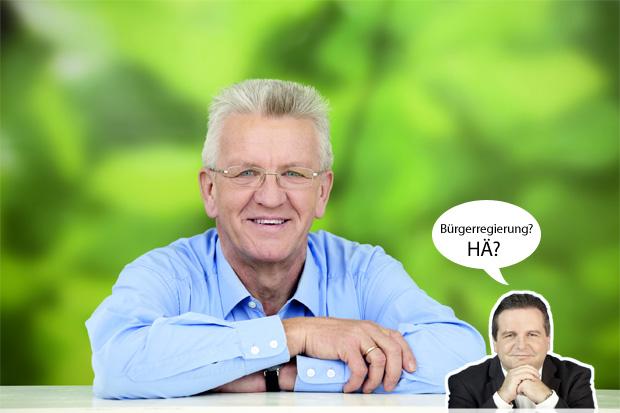 Bürgerregierung Bürgergesellschaft Stuttgart Bürgerbegehren Kretschmann