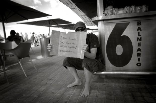 #globalchange Occupy Wall Street 15.Oktober 2011 auf Mallorca am Ballermann 6 / Balneario 6