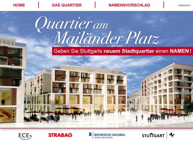 Quartier am Nailänder Platz in Stuttgart heisst MILANEO