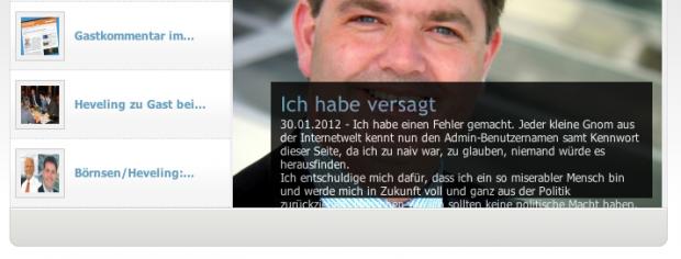 Ansgar Heveling Webseite gehackt