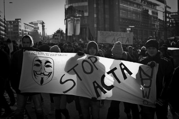 ACTA Demonstration in Stuttgart am 11.02.2012 - STOP Acta Demobanner