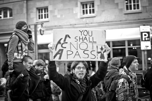 ACTA Demonstration in Stuttgart am 11.02.2012 - You shall not pass