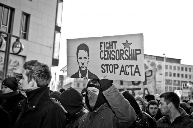 ACTA Demonstration in Stuttgart am 11.02.2012 - Censorship