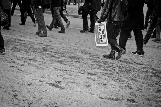 ACTA Demonstration in Stuttgart am 11.02.2012