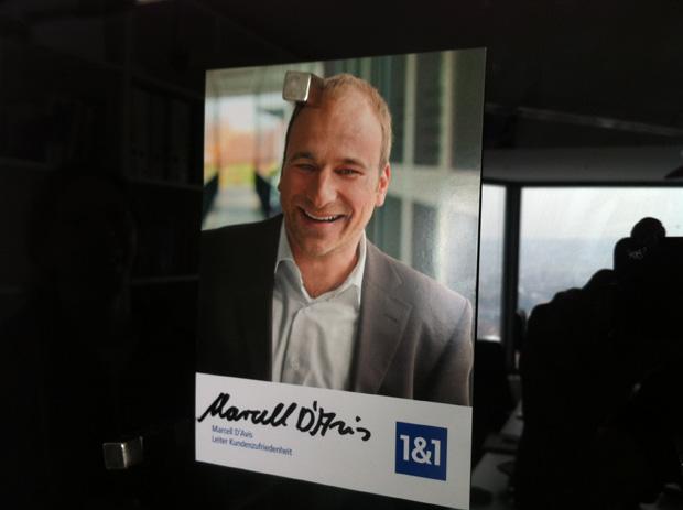 Marcell D´avis Leiter Kundenzufriedenheit bei 1&1 Internetprovider