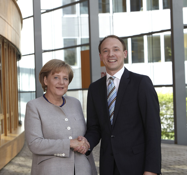 Marco Wanderwitz CDU mit Angela Merkel CDU