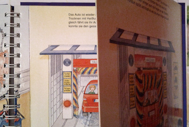 Kinderbuch - Seite umschlagen suggeriert den Waschgang