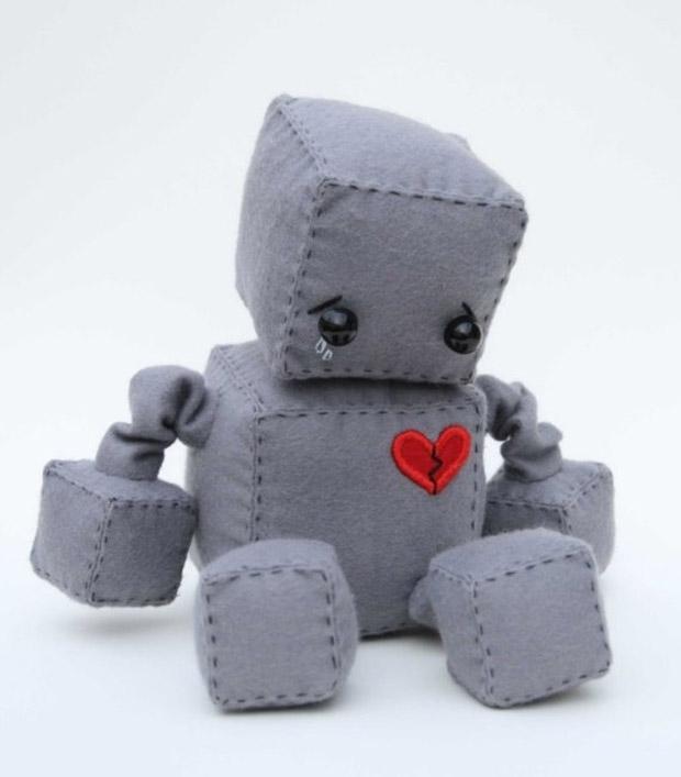 BrokenHeart the Sad Robot - Roboter Stofftier von Littlebrownbyrd bei etsy