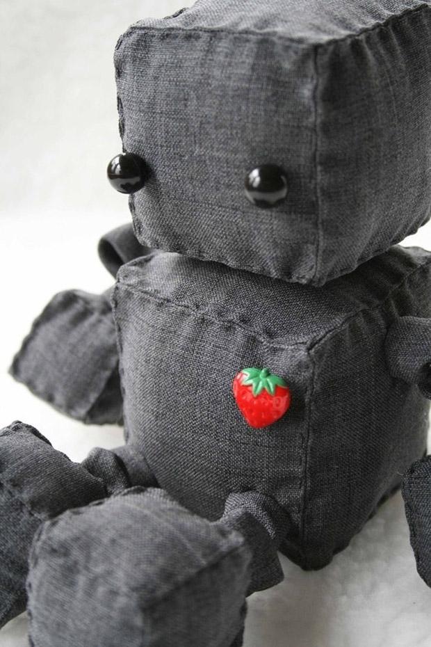 Roboter Stofftier von Littlebrownbyrd bei etsy