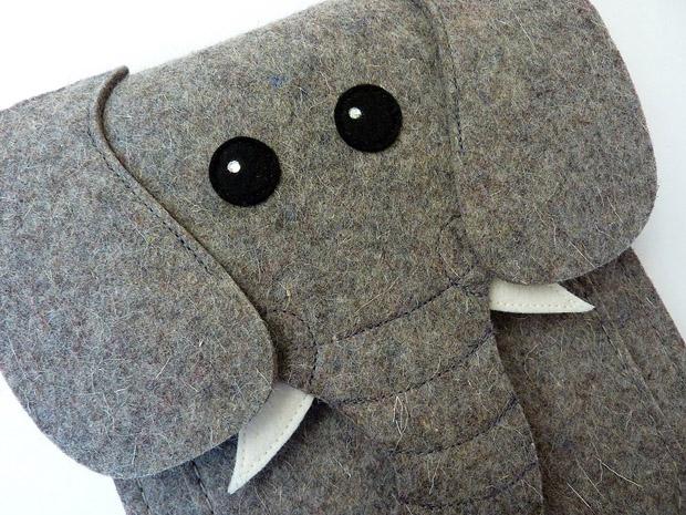 Elefant als Tasche für Amazon Kindle - von BoutiqueID bei etsy