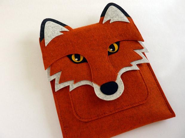 Fuchs als Tasche für das iPad - von BoutiqueID bei etsy