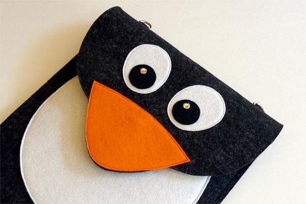 Pinguin als Tasche für das iPad - von BoutiqueID bei etsy