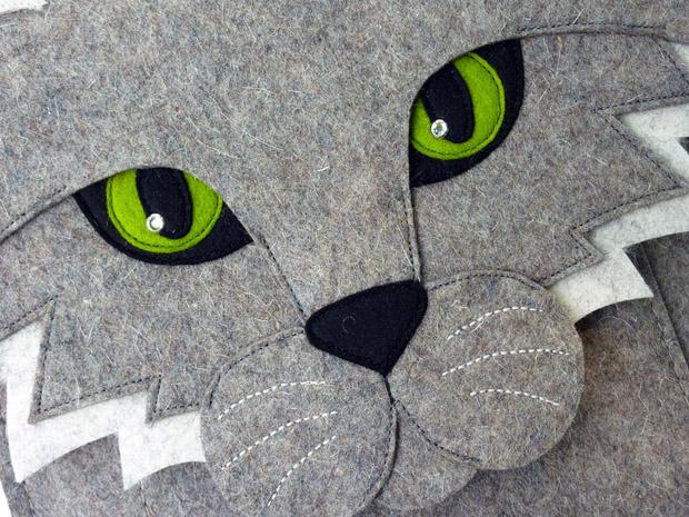 Katze als Tasche für das Mac Book Air 13 Zoll - von BoutiqueID bei etsy