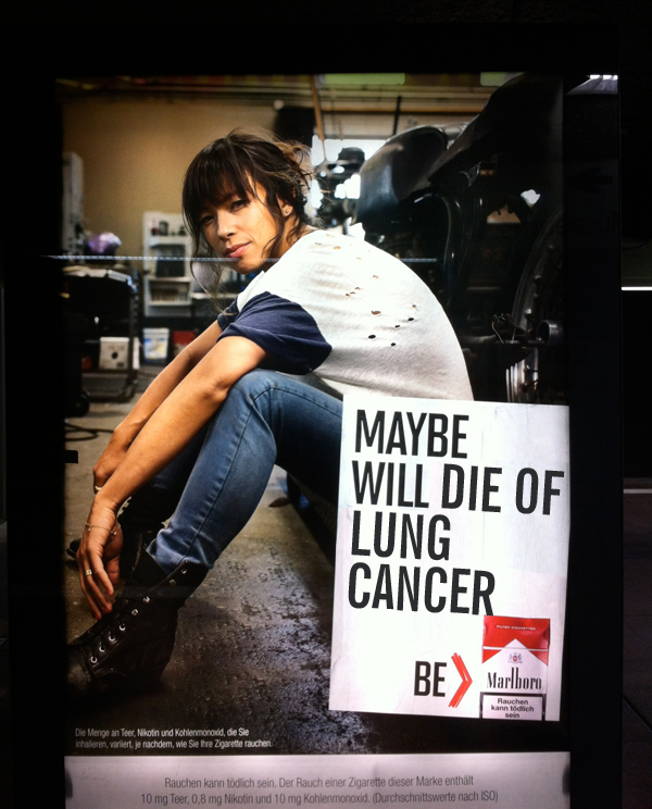 Marlboro Adbusting: Maybe will die of lung cancer