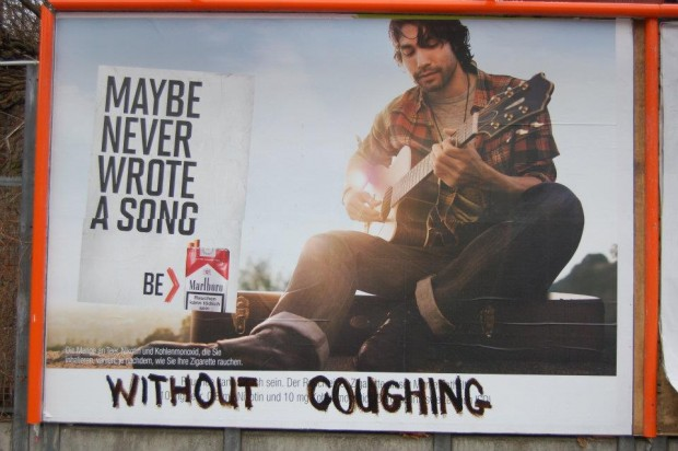 Marlboro Adbusting: Maybe never wrote a song without coughing