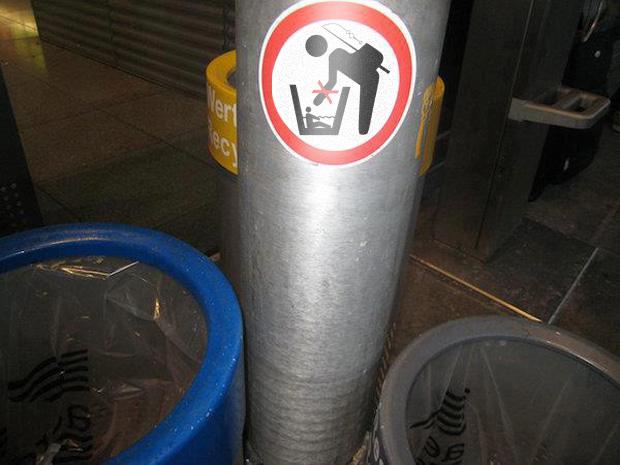 Aufkleber: Bitte nicht baden