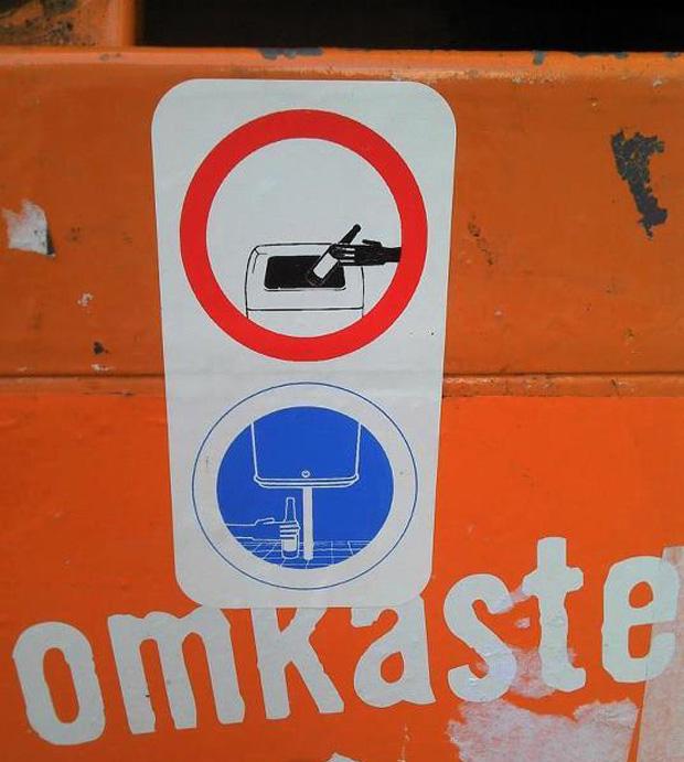 Abfalleimer Berlin - Ein Herz für Pfandflaschensammler