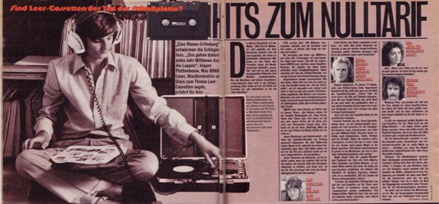 Bravo Artikel vom August 1977: Hits zum Nulltarif