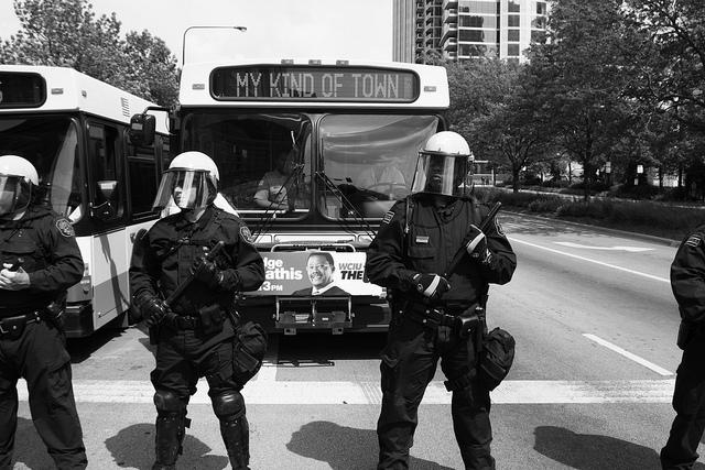 "NATO Proteste in Chicago ""My kind of town"" - Foto von Marcus Demery"
