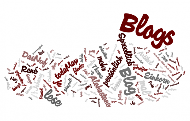 Tagcloud: Welche Blogs lese ich?