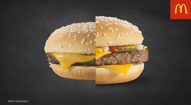 McDonalds Burger Vergleich Fotoshooting