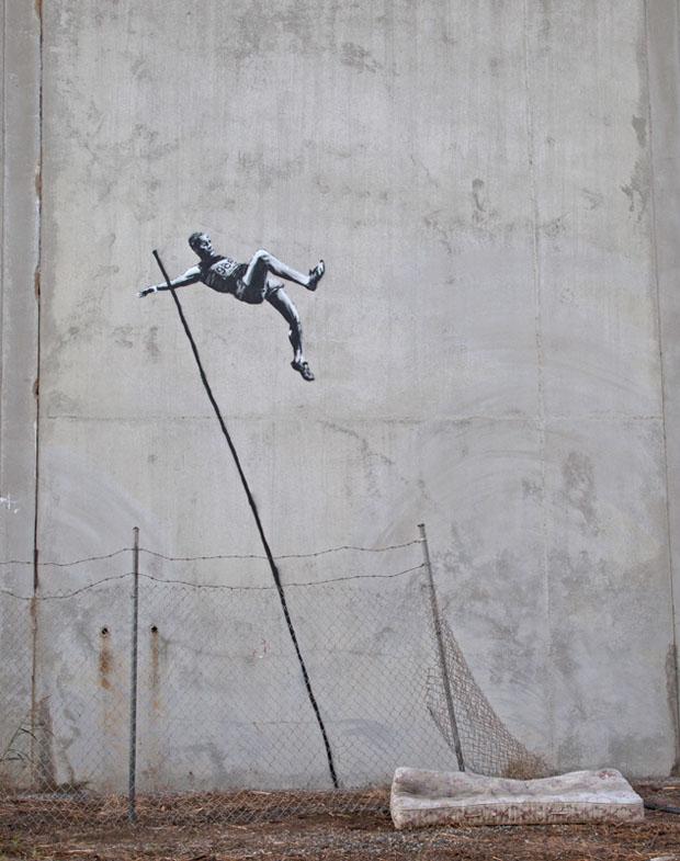 Banksy Arbeit zu den Spielen in London