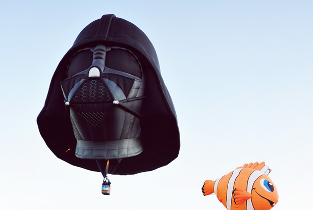 Darth Vader meets Nemo Heißluftballon