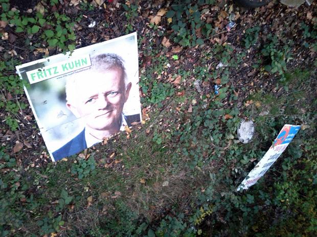 Die Verlierer der Oberbürgermeister Wahlen in Stuttgart 2012: Fritz Kuhn und Sebastian Turner
