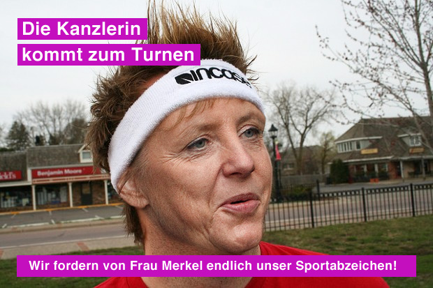 Wir fordern von Frau Merkel unser Sportabzeichen 2012