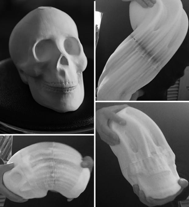 "Courtesy DOMINIK MERSCH GALLERY and Li Hongbo - ""Skull"""