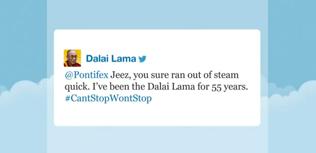 Dalai Lama and the pope on Twitter 01 - Jimmy Fallon Late Night Show 01