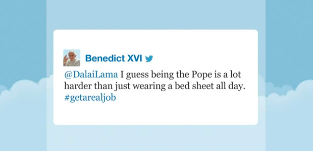 02 Dalai Lama and the pope on Twitter 01 - Jimmy Fallon Late Night Show