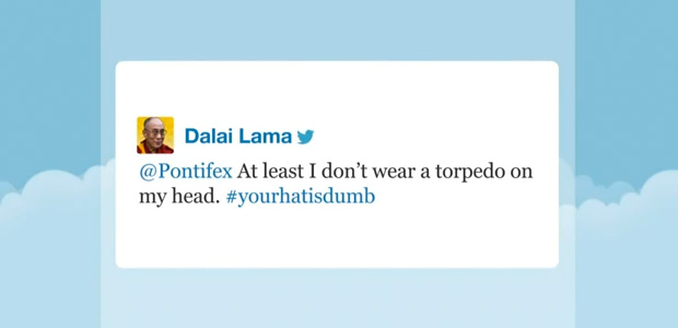 03 Dalai Lama and the pope on Twitter 01 - Jimmy Fallon Late Night Show