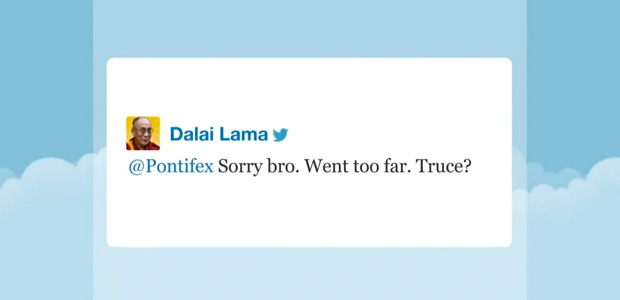 07 Dalai Lama and the pope on Twitter 01 - Jimmy Fallon Late Night Show
