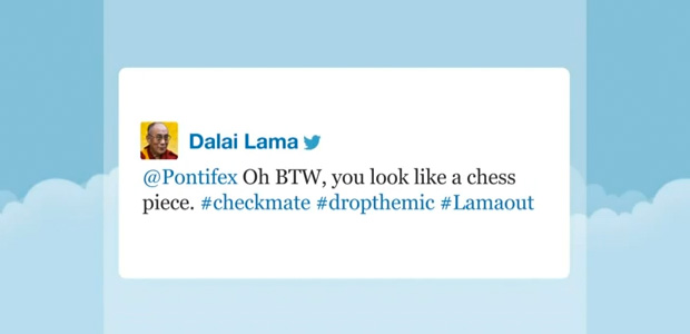 09 Dalai Lama and the pope on Twitter 01 - Jimmy Fallon Late Night Show